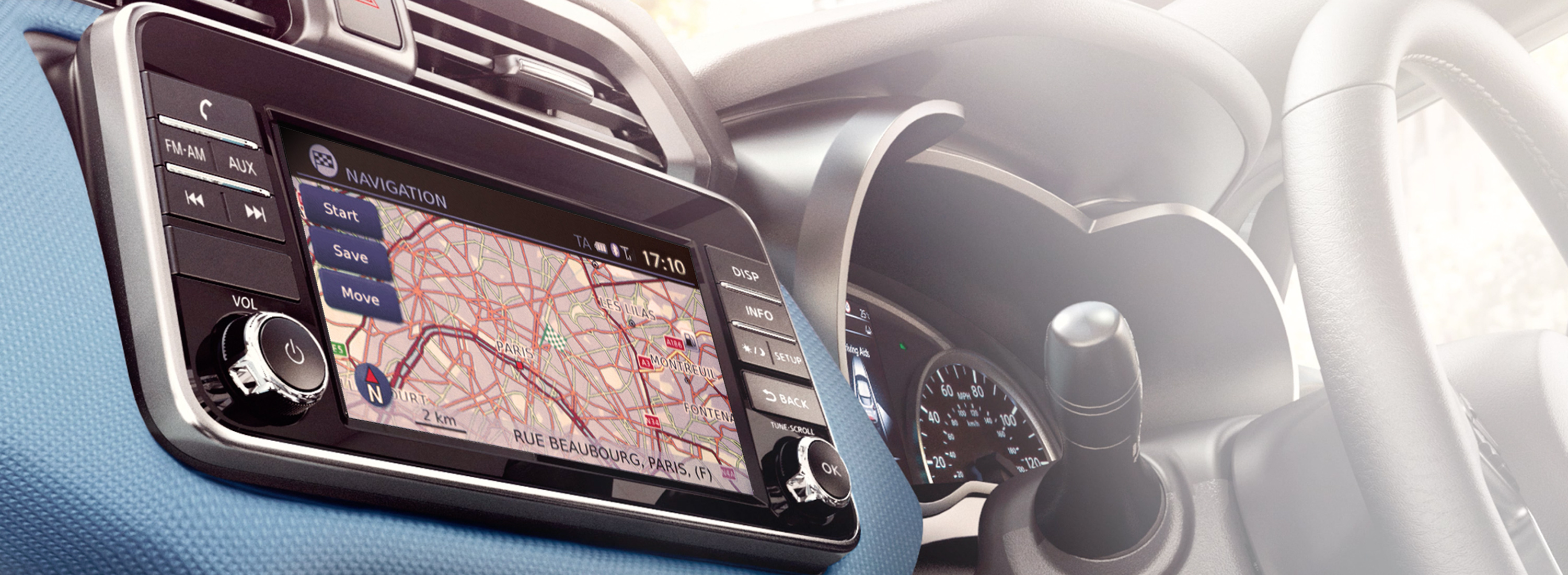 Nissan Micra 7-inch touch screen