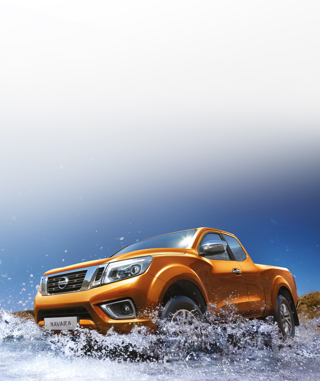 Nissan Navara driving shot in the water